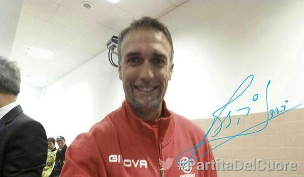 Still got it!!! Gabriel Batistuta scored a trademark goal last night in a charity match