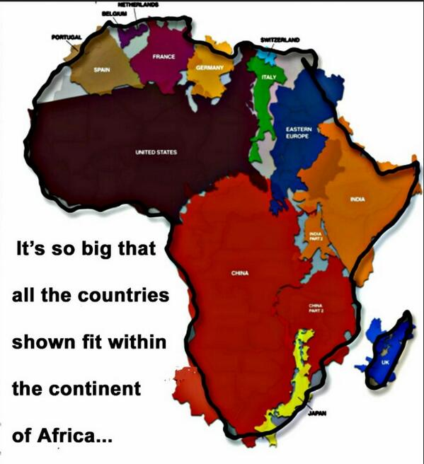To give you an idea on just how large #Africa is... #agfuture http://t.co/TLGozVH8uc