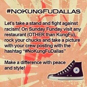 .@Converse a peaceful protest is happening in #Dallas. Might want to check it out #NoKungFuDallas http://t.co/995PcyDQJP