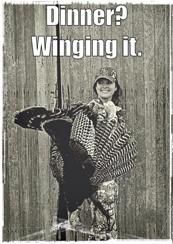 When you're a hunter, and someone asks what's for dinner ~ Sometimes you just wing it. http://t.co/qIBlCLjZuC