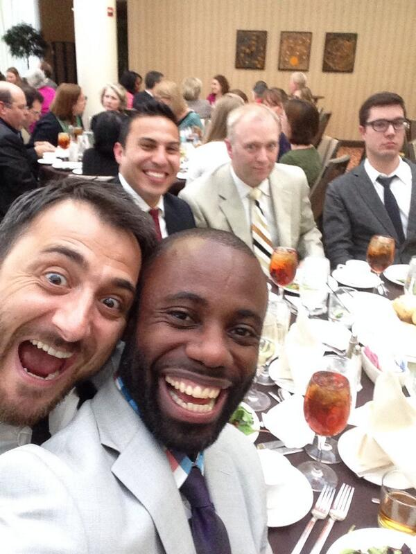 Ready to accept our #AMP14 EXCEL Awards...but first let me take a selfie @sebroworks @OCoruhlu http://t.co/Ey0nydbulz