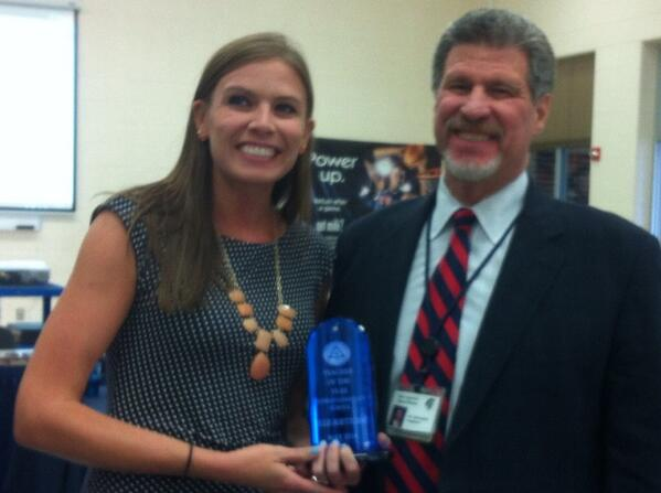 @JeffSparagana with Franklin's Teacher of the Year, Julie Boettcher. http://t.co/X4HPNKtBcC