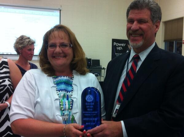 @JeffSparagana with Arden Moore, #Pottstown MS 7th & 8th grade Teacher of the Year. http://t.co/ReNTiQ36QG