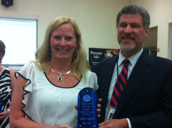 @JeffSparagana with Kelly Smale, #Pottstown HS Teacher of the Year. http://t.co/BebumpSvQB