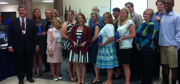 The members of the #Pottstown School Board join the Teachers of the Year. http://t.co/x3AGfuSI5o