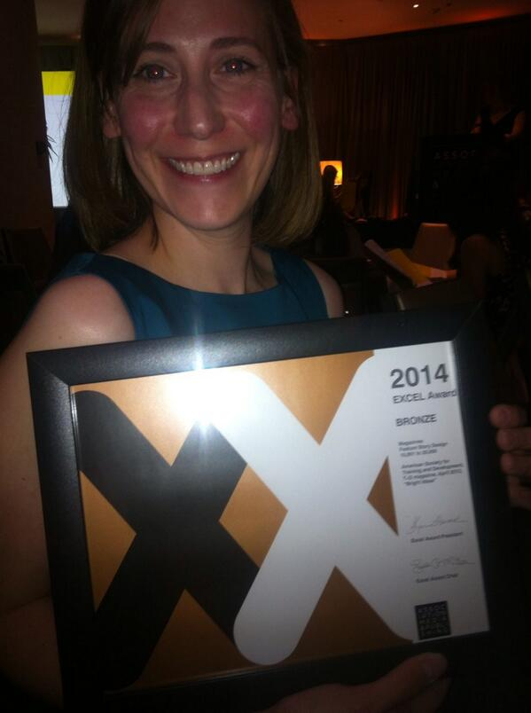 Hey that's me! RT @wenlman: Sitting with an Excel award winner Jen Smith Network Media Parnters. #amp14 http://t.co/QRfJIc9B9W