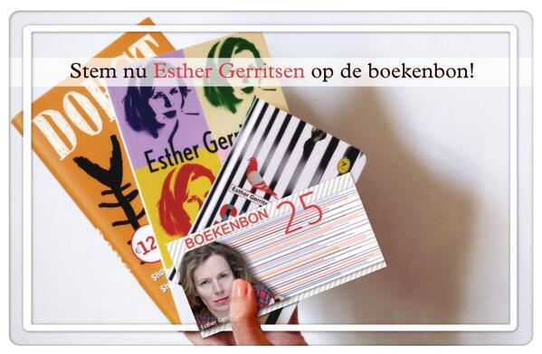 Stem op Esther Gerritsen http://t.co/NaKSqiLmIQ, retweet dit bericht en maak kans op het boekenpakket! #winnen http://t.co/FiMRfw4Ria
