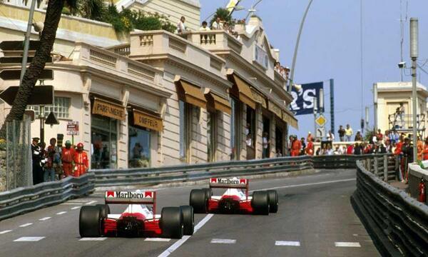 Alain Prost & Ayrton Senna on their way to 1st & 2nd in the 89 #MonacoGP. #BelieveInMcLaren #MagicOfMonaco