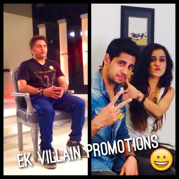 #EkVillain promotions kick start today!!!! @mohit11481 @S1dharthM @ShraddhaKapoor @ekvillain http://t.co/NbWDzeMsFP