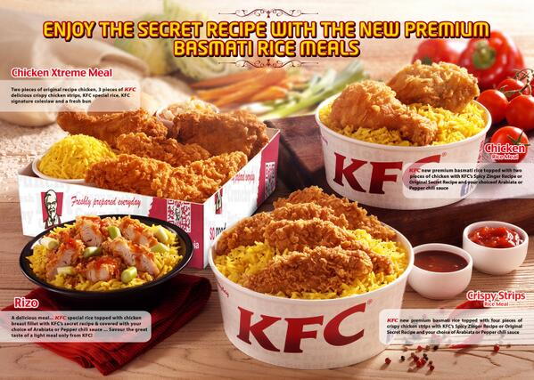 KFC Arabia On Twitter Are You A Rice Lover Enjoy The Secret Recipe With Premium Basmati Meals Tco 0HABP3ptQg
