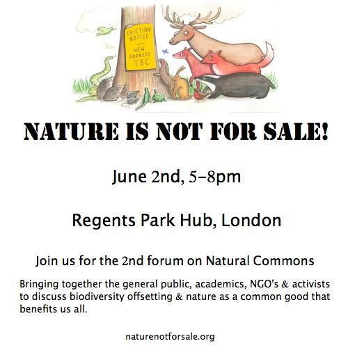 Join us & great speakers June 2nd, RegentsParkHub, 5-8pm to discuss #BiodiversityOffsetting! http://t.co/CwVlwYDHs6 http://t.co/mx8F5h460F