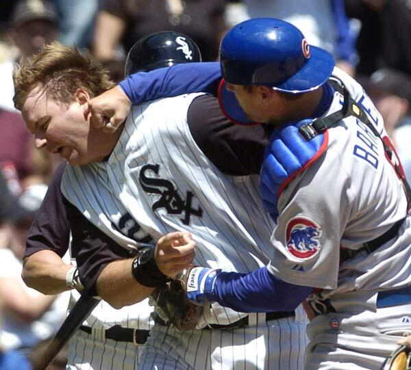 EIght years ago today, Michael Barrett punched A.J. Pierzynski in the face: http://t.co/9rd6zl896W