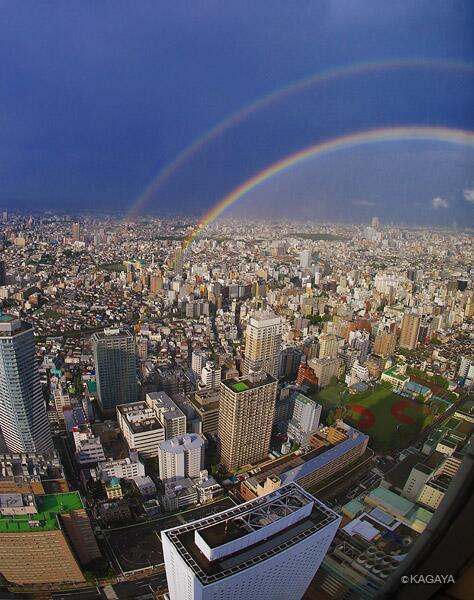 過去の写真より、豪雨の後、東京に出た虹です。 pic.twitter.com/Trqfr7Cl8w