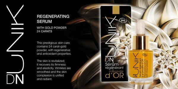 DN UNIK Beauty Elixir, Organic Regenerating Gold Serum. Stay radiant and walk in beauty ! http://bit.ly/TpWcJJpic.twitter.com/yi95O2fhj6