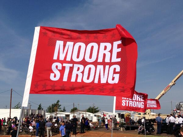 With the community or Moore as they remember and rebuild #moorestrong http://t.co/pSpqpT3uSB