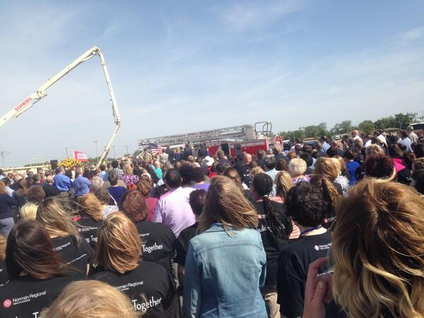 Remembrance ceremony #oneyearlater #moorestrong #Moore @KJRH2HD http://t.co/bzPLrsgD2K