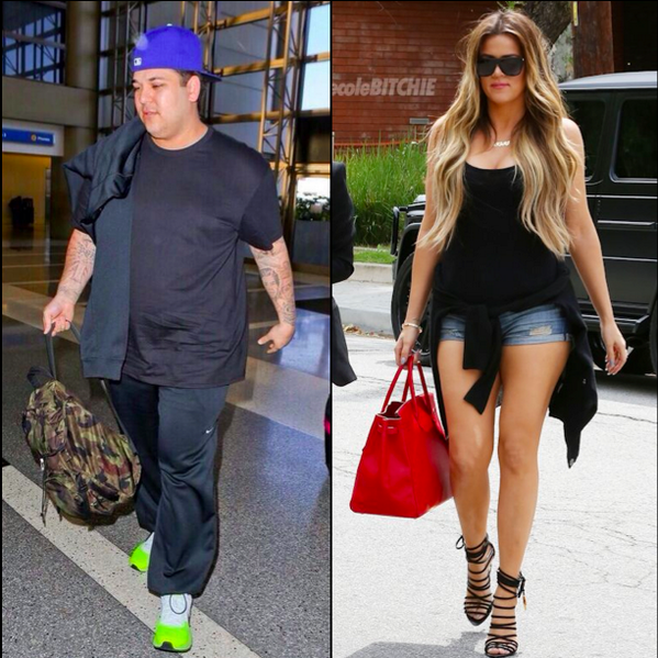 Poor Rob RT @necolebitchie: Rob And Khloé Kardashian React To Fat-Shaming http://t.co/S5XUf3TKgv http://t.co/XTo5rURKIT
