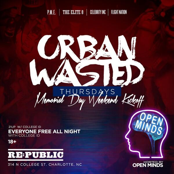 Who's Coming Out This Thursday To Republic With @OpenMindsNC Performing Live!!! http://t.co/r0E7TrJ3d5