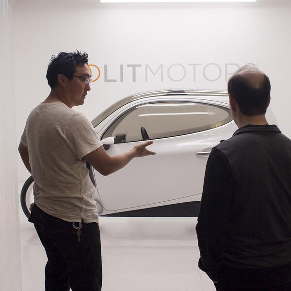 #StartupLife : Pitching, pitching, pitching. We built a private showroom to exhibit our #prototype #BTS @LitMotors http://t.co/PjS2ClTBZi