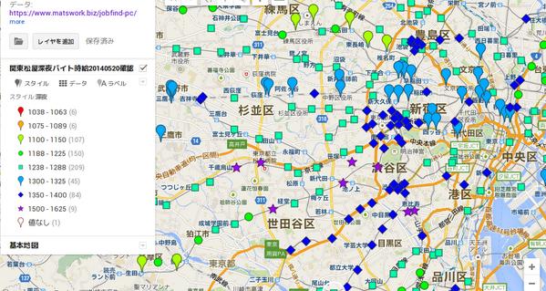 松屋バイト時給、同心円状にグラデーションするかと思ったらそんなことはなく、1km歩けば時給にして200円以上違う世界が広がっている、というのが東京(というか渋谷・世田谷・品川の三区)の現状のようだ > pic.twitter.com/0X5gZLsn9E