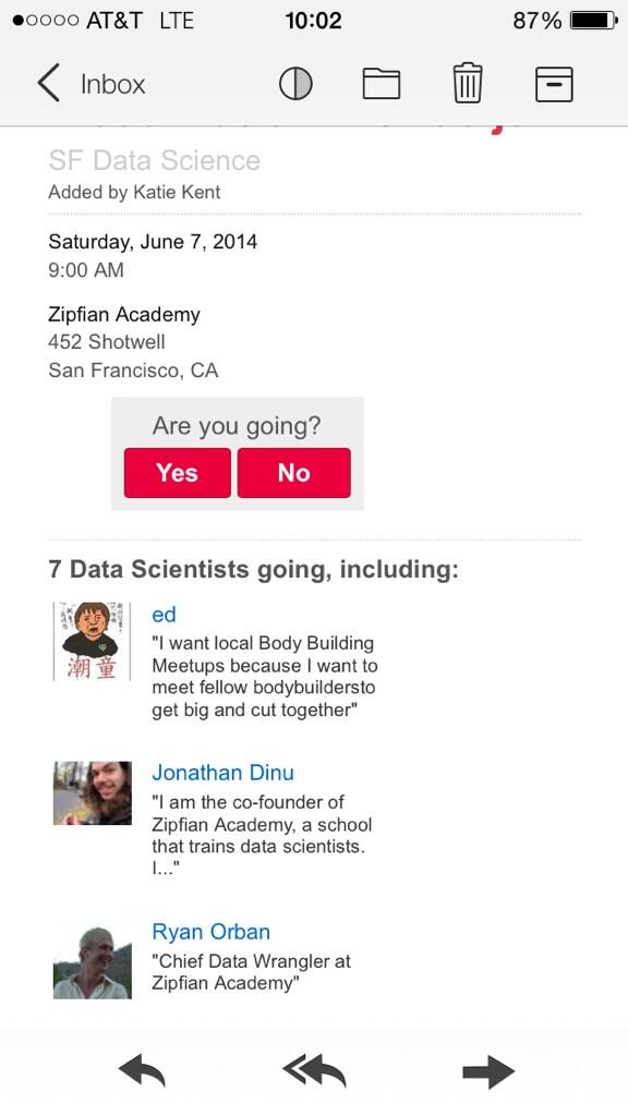 Pretty sure Ed doesn't know what this data science meetup is all about. http://t.co/uVHoUhyEuV