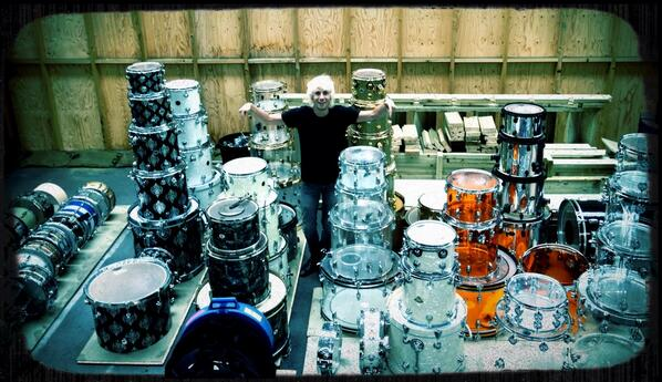 Just hanging with a few of my drums! http://t.co/d72AYkngHa