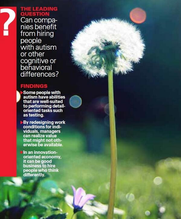 Autism and the Dandelion Metaphor http://t.co/qKszHv9fhP work can fit abilities @Autism http://t.co/K0ViRxY4KQ