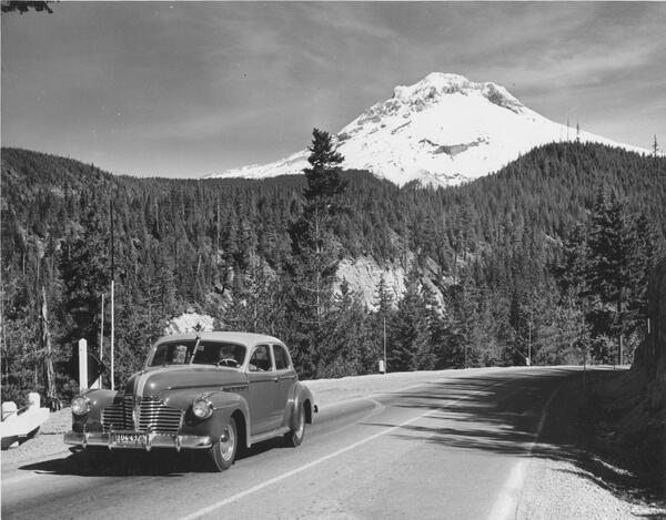 "OregonStateArchives on Twitter: ""1941 Buick on Laurel Hill w/ Mt ..."