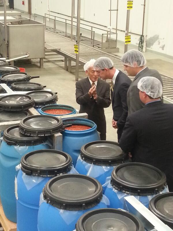 Delegation from Denton, TX tours Sriracha factory