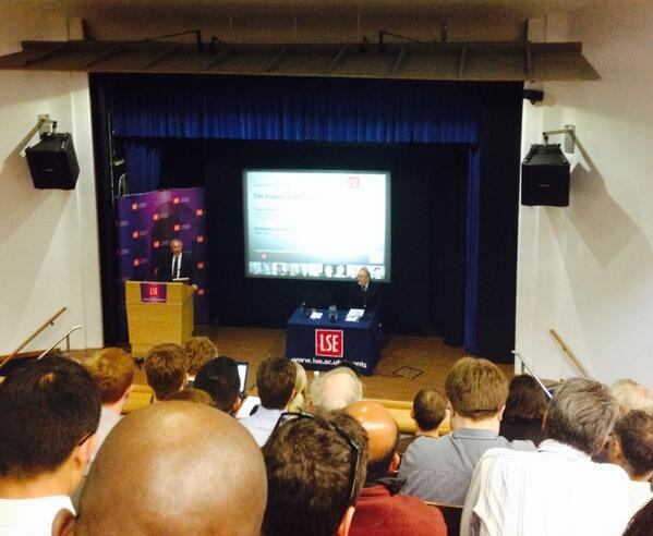 Evening at LSE for a talk from the Deputy Governor of the Bank of England, Charlie Bean #LSEBoE http://t.co/W1p5wPUsz8