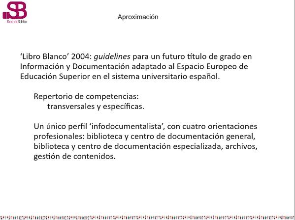 Thumbnail for Competencias y perfiles profesionales en Información y Documentación