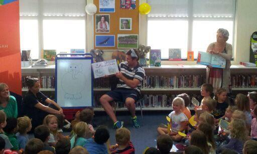 THANK YOU! @manlyseaeagles: the kids loved having Jamie Lyon take part in #NSS14 #Forestville #Library #CoolKidsRead http://t.co/I7d36zR5Fk