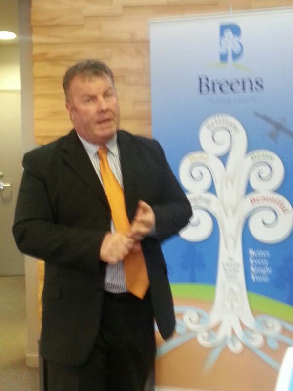 #eFellow14 #eFellows being welcomed by principal Brian Price  at Breens Intermediate http://t.co/O25rx84av5