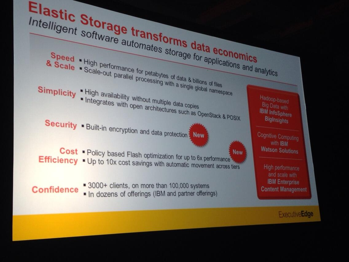 Elastic Storage transforms data economics