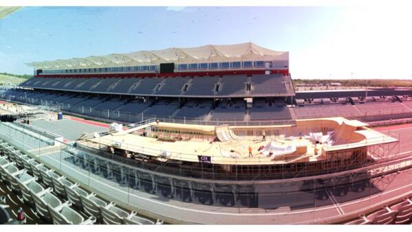 Checking out the @XGames build at @circuitamericas. This is the Park competition. #XGames #XGamesAustin http://t.co/k1B0hAp0tH