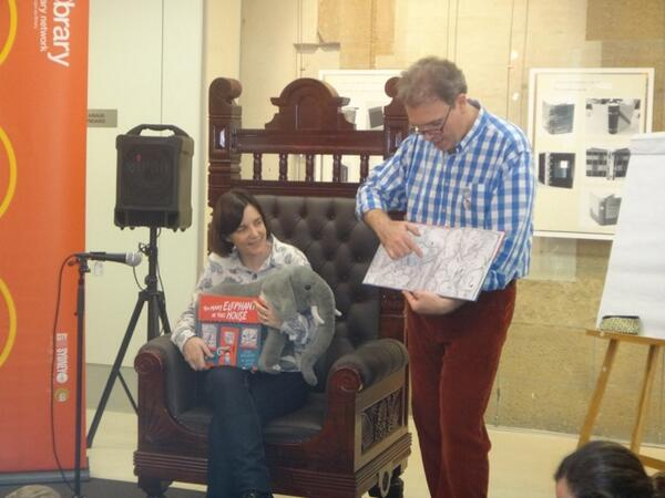 What a wonderful day for #NSS14! #toomanyelephants with Ursula Dubosarsky & Andrew Joyner at Customs House Library. http://t.co/V32S0Wo69S