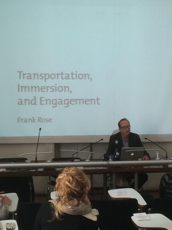 "È il momento di @frankrose a #ContentWorkers: ""Transportation, immersion and engagement"" #IBT14 http://t.co/LzA50WKzq4"