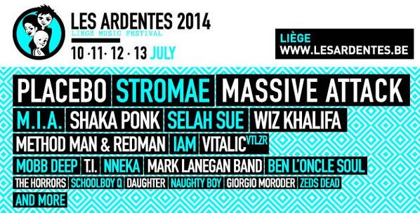Les Ardentes Festival 2014 | Lineup | Tickets | Dates | Video | News | Rumors | Mobile AppLes Ardentes Festival 2014 | Lineup | Tickets | Dates | Video | News | Rumors | Mobile App