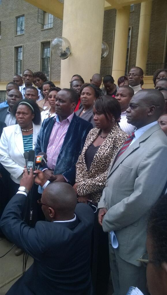 Leaders from Embu county at the High Court in Nairobi where they intend to  compel the govt to produce Kariuki Mate http://t.co/vQjyF6ebHO
