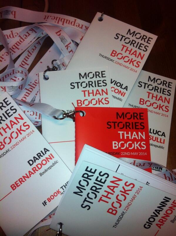 Badges are arrived: ready for tomorrow #ibt14 @bookrepublic http://t.co/OwNdKsWe8K