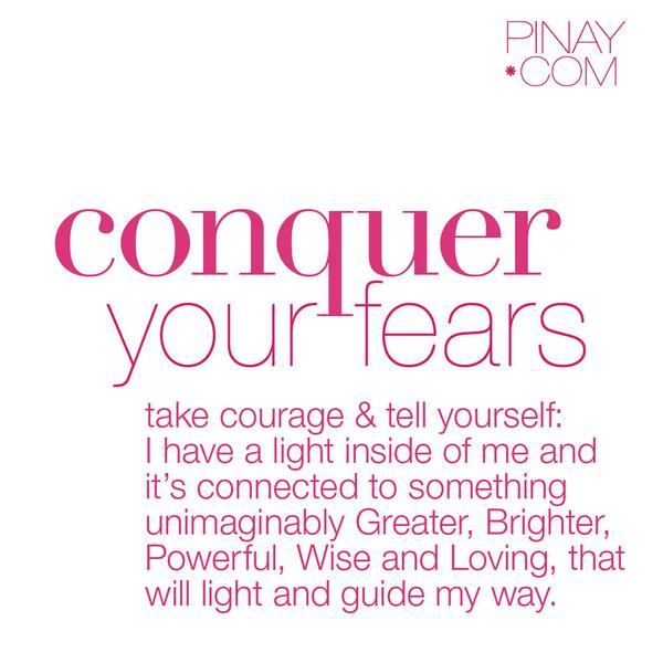 Conquer your fears. Brave the darkness. SHINE!! #jlifeline http://t.co/0AnaLxbicE