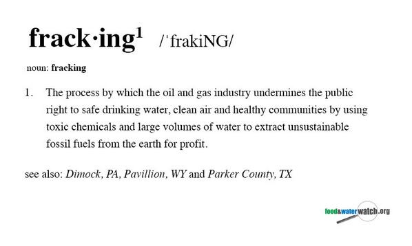 """Merriam-Webster added """"fracking"""" to its dictionary. Here's how we think the definition should read. #fracking http://t.co/4rJ4KobPp1"""