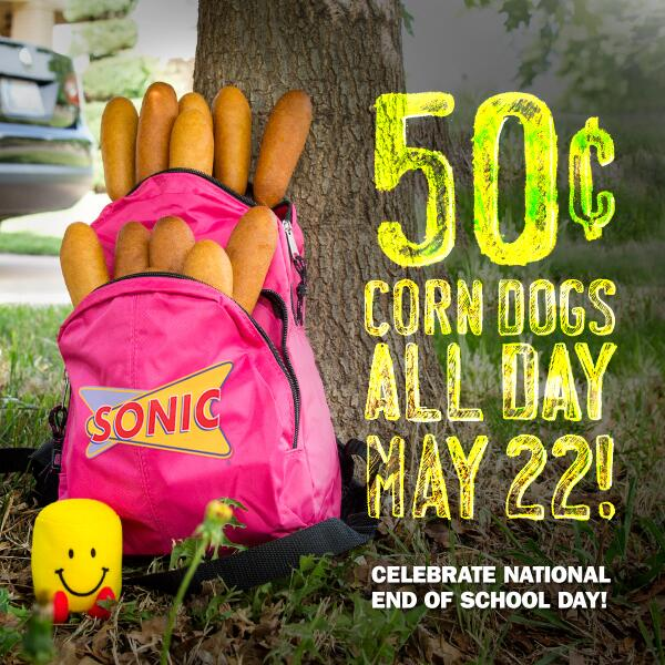 After tomorrow, you won't need your backpack anymore. Come fill it with 50-cent corn dogs instead. http://t.co/GZYyHv0rdJ
