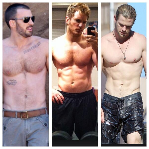 Chris Hemsworth Chris Evans Body