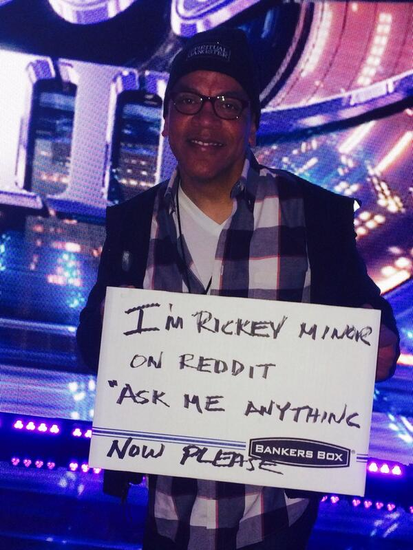 """@reddit_AMA: Join @RickeyMinor for his AMA live now: http://t.co/wIvDjv0jhD http://t.co/aUjXa2i43B.         Come ask me questions"