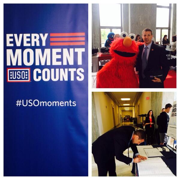 Happy to have had the chance to support our troops at the USO Service Project today #USOmoments http://t.co/mxFjU39Pr4