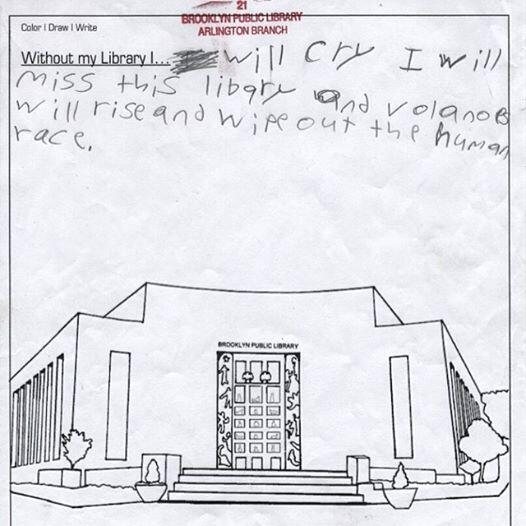 We love #libraries, but this kid from Brooklyn Public Library's Arlington branch is OBSESSED with his library. http://t.co/hkVtZmNzL3