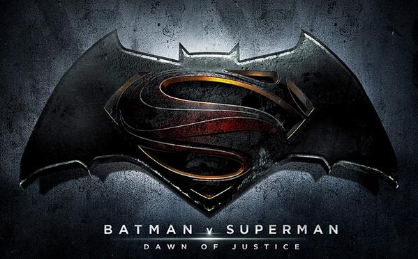 Here's the official logo for Batman v Superman: Dawn of Justice! Opening May 6, 2016. http://t.co/Bow9dPoFtA