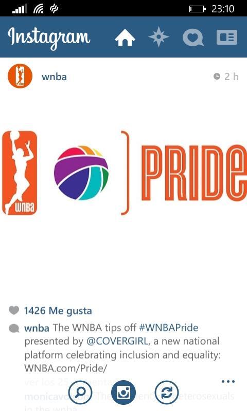 wnba pride instagram