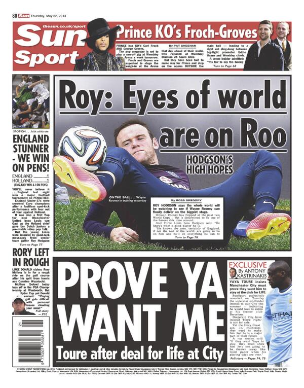 Yaya Toure tells Manchester City: Prove you want me to stay for life [Sun Sport]